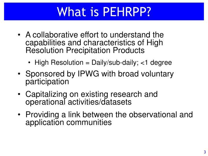 What is PEHRPP?