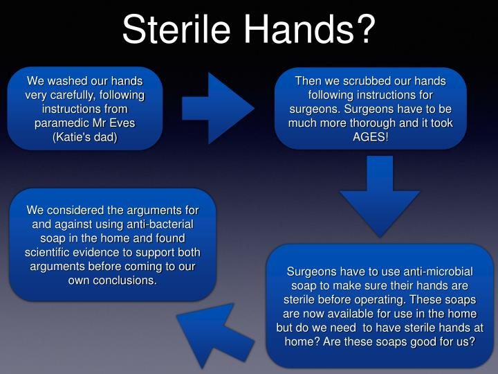 Sterile Hands?