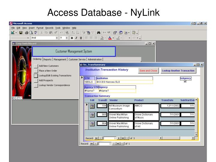 Access Database - NyLink