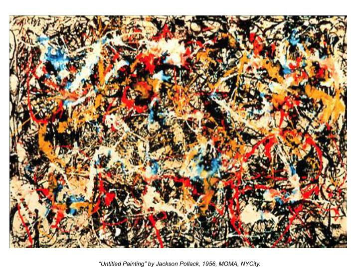"""Untitled Painting"" by Jackson Pollack, 1956, MOMA, NYCity."