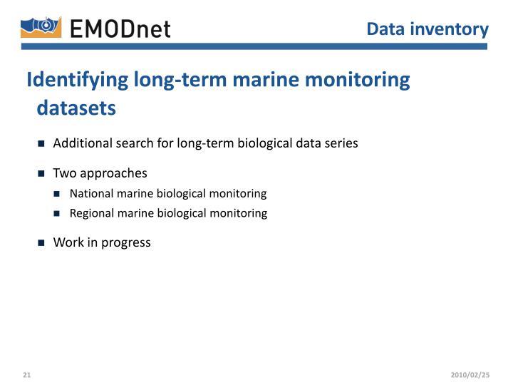 Data inventory