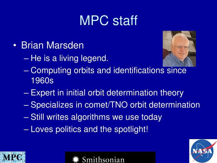 MPC staff