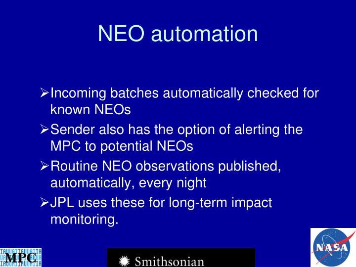 NEO automation