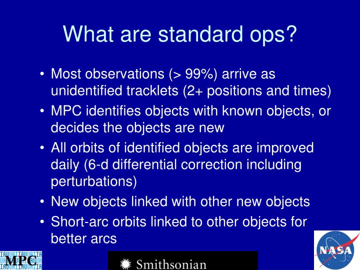 What are standard ops?
