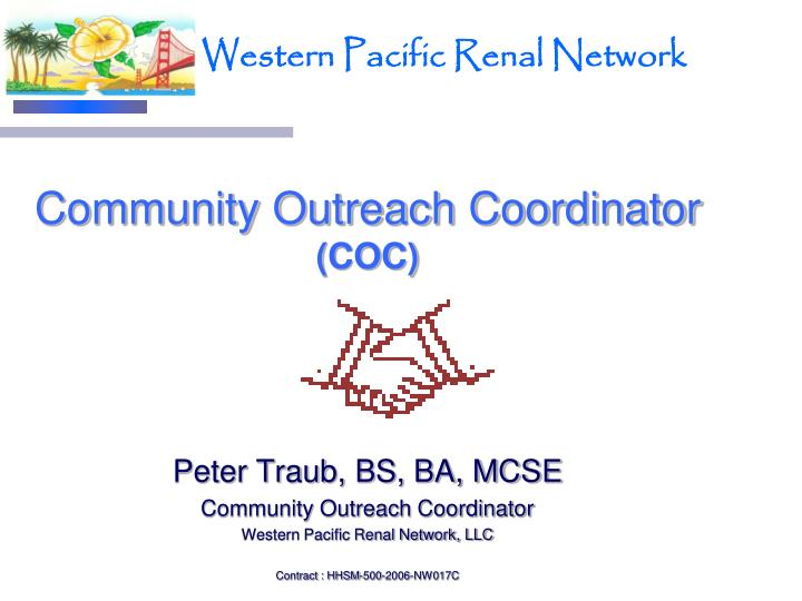 Community outreach coordinator coc