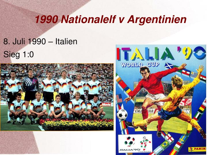 1990 Nationalelf v Argentinien
