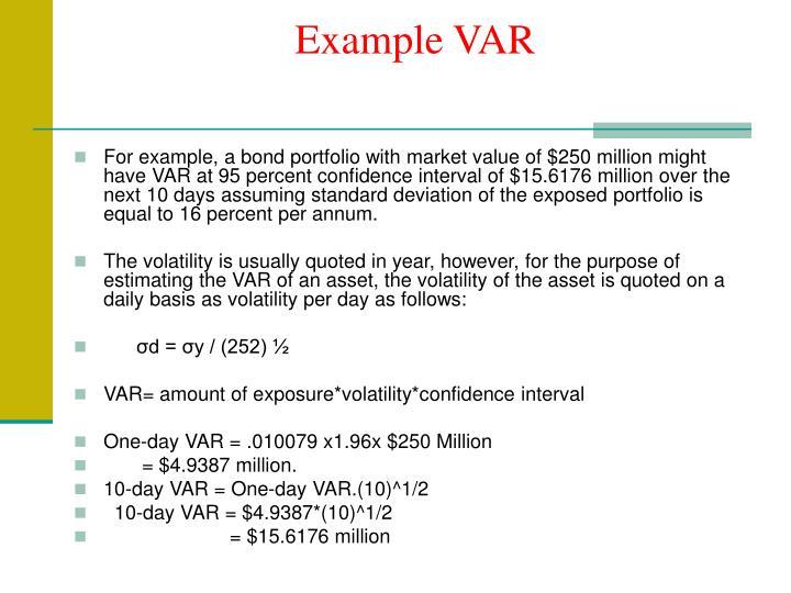 Example VAR