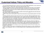 customized indices policy and allocation