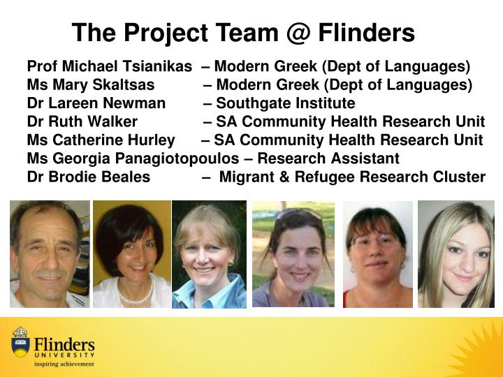 The Project Team @ Flinders