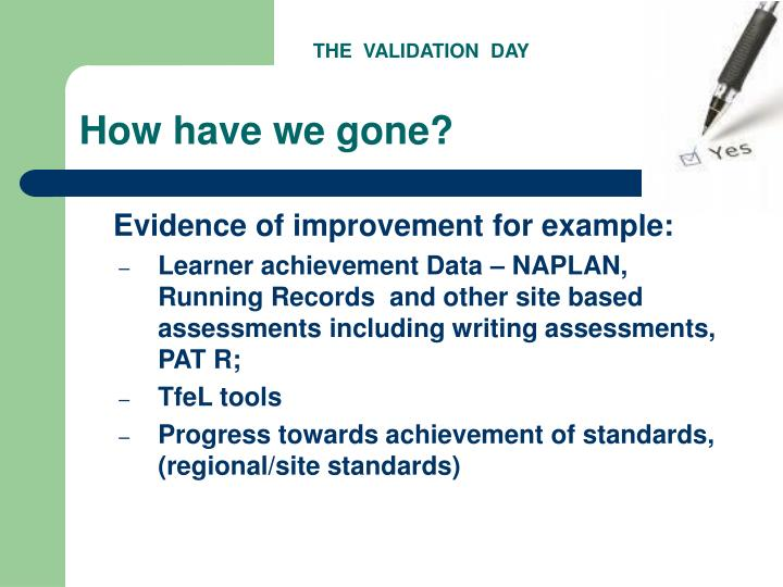 THE  VALIDATION  DAY