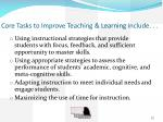 core tasks to improve teaching learning include