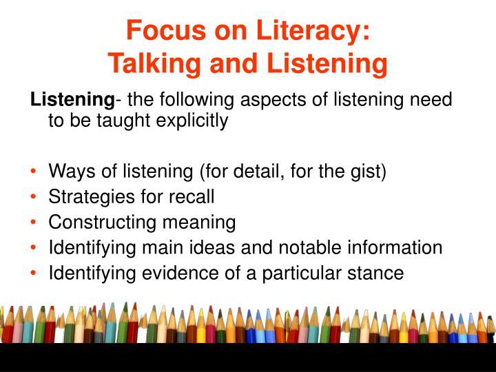 Focus on Literacy: