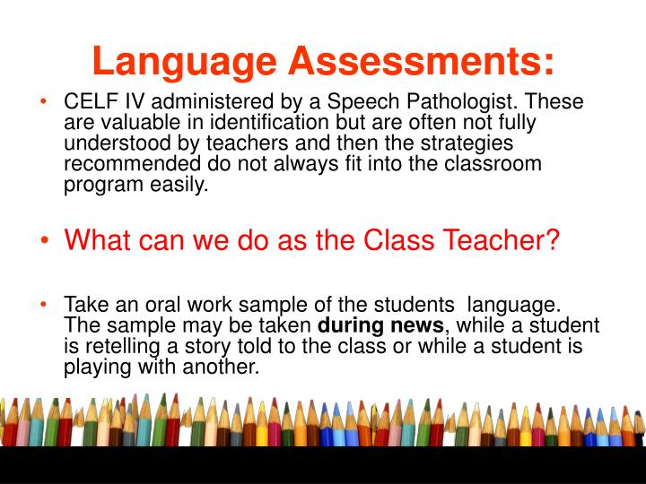 Language Assessments: