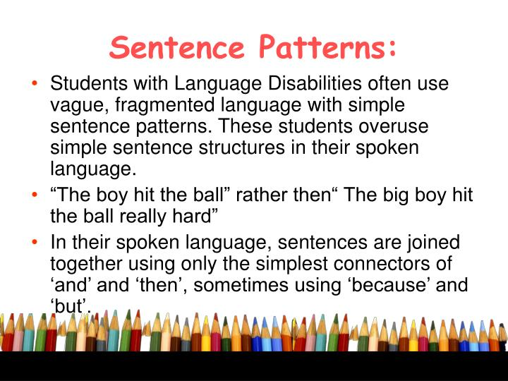 Sentence Patterns:
