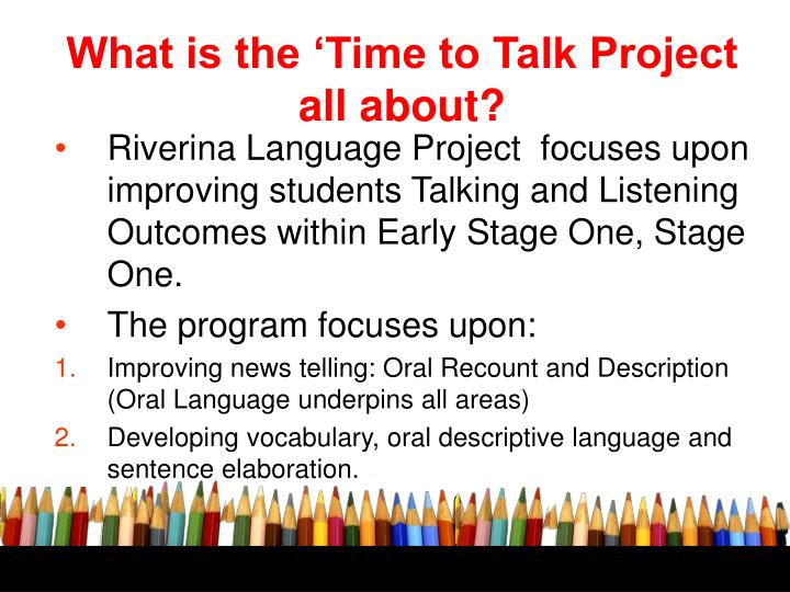 What is the 'Time to Talk Project all about?