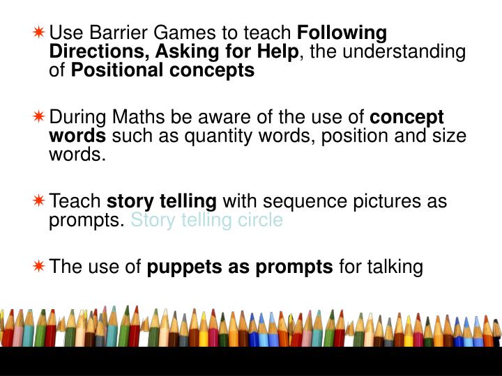 Use Barrier Games to teach