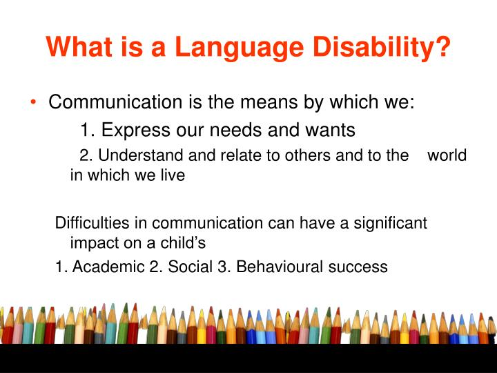 What is a Language Disability?