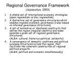 regional governance framework jayasuriya 2003