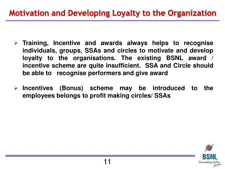 Motivation and Developing Loyalty to the Organization