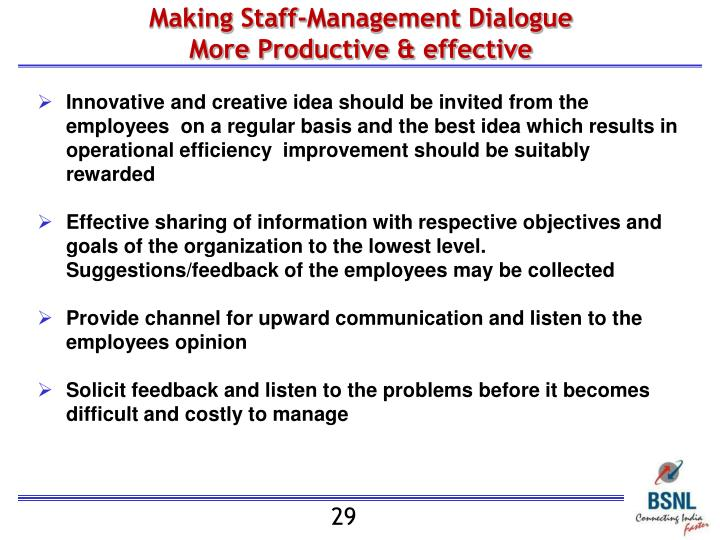 Making Staff-Management Dialogue