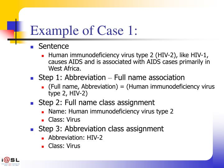Example of Case 1: