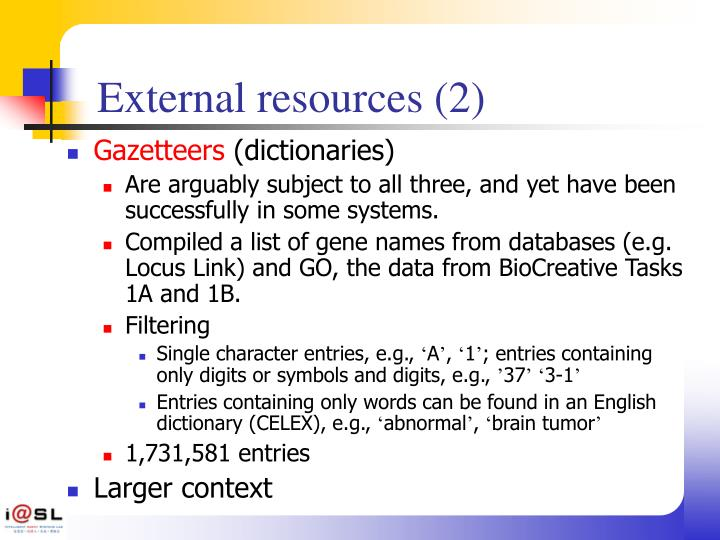 External resources (2)