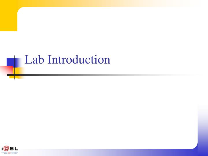 Lab Introduction
