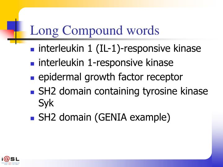 Long Compound words