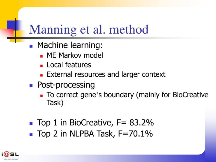 Manning et al. method
