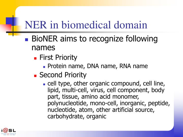 NER in biomedical domain