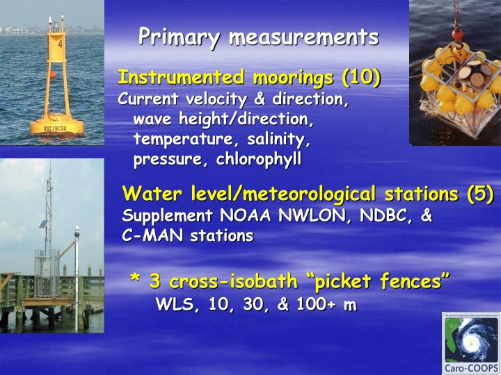 Primary measurements