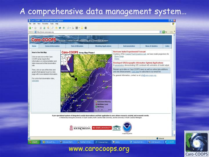 A comprehensive data management system…