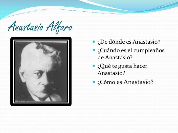 Anastasio Alfaro