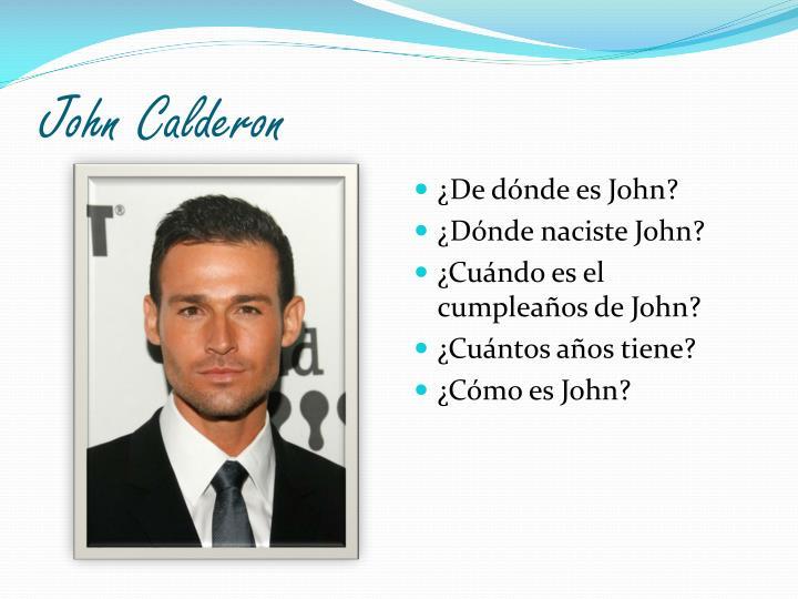 John Calderon