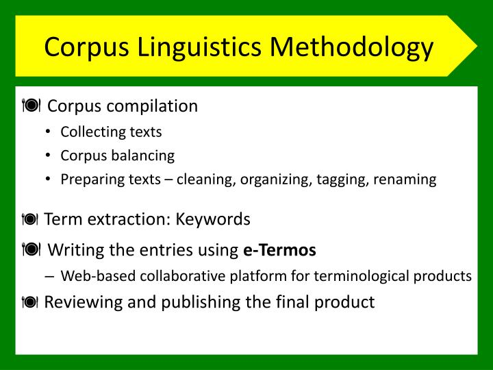 Corpus Linguistics Methodology