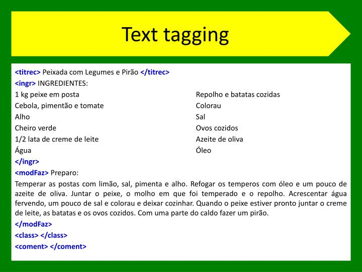 Text tagging