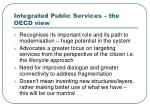 integrated public services the oecd view