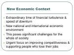 new economic context