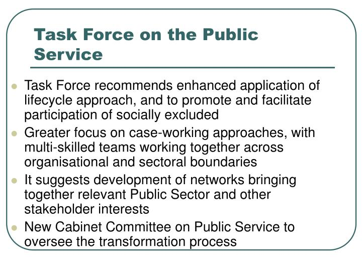 Task Force on the Public Service
