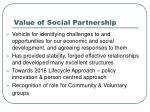 value of social partnership
