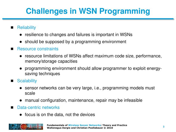 Challenges in WSN Programming