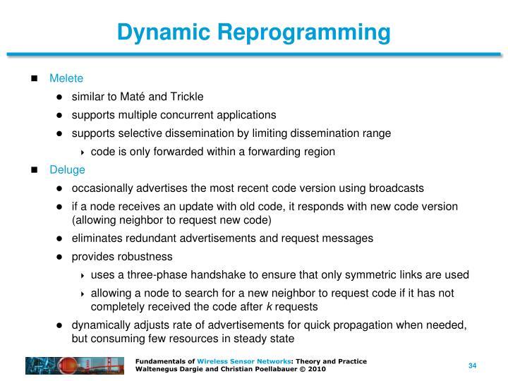 Dynamic Reprogramming