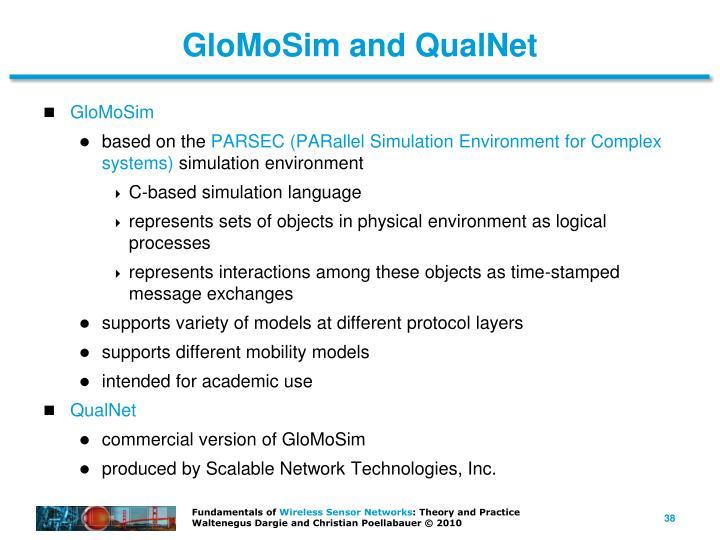 GloMoSim and QualNet