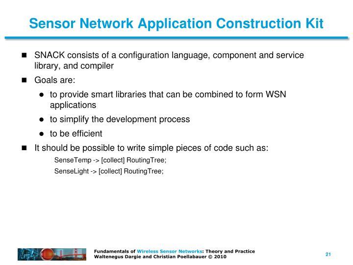 Sensor Network Application Construction Kit