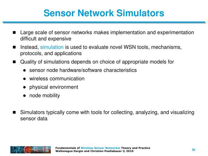 Sensor Network Simulators