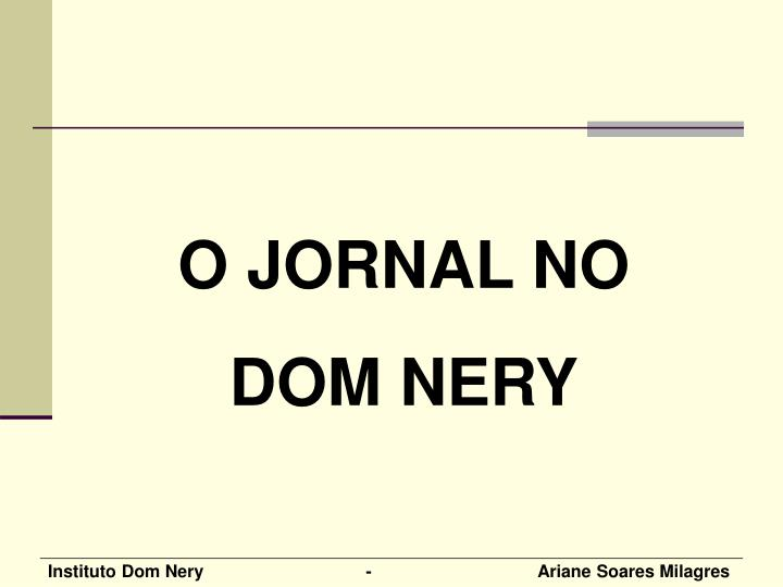 O JORNAL NO