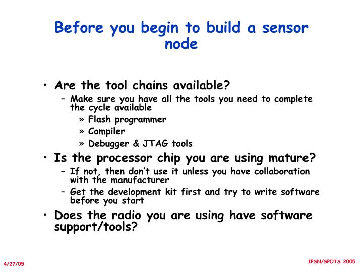 Before you begin to build a sensor node