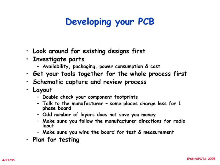 Developing your PCB