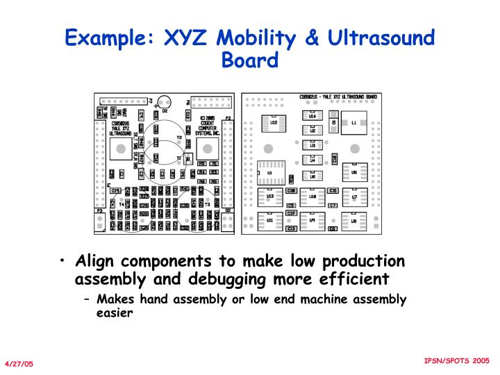 Example: XYZ Mobility & Ultrasound Board