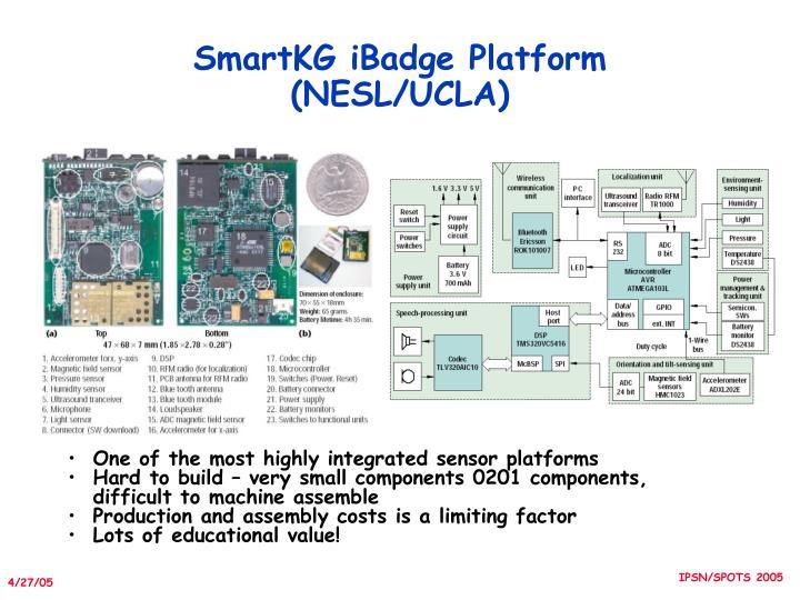 SmartKG iBadge Platform (NESL/UCLA)
